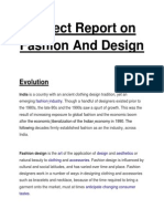 Project Report on Fashion and Design