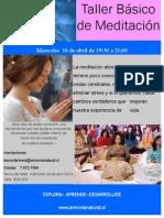 Taller de Meditacionabril 2