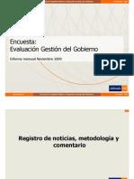Evaluación Gobierno Nov09