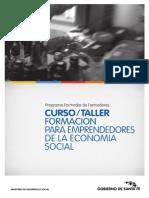 Cursotaller Formación Para Emprendedores de La Economía Social