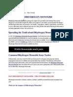 Environmental Impact of Dihydrogen Monoxide