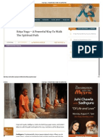 Kriya Yoga – a Powerful Way to Walk the Spiritual Path