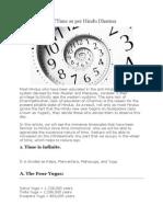 Measurement of Time as Per Hindu Dharma