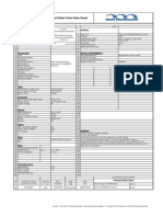 Thermal Relief Valve Data Sheet