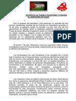 Manifiesto IU-PCE Alcalá en Solidaridad Con El Pueblo Palestino