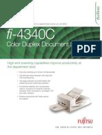 Fujitsu Fi-4340c Datasheet
