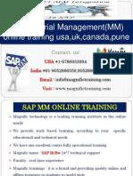 Sap Material Management(MM) Online Training Usa,Uk,Canada,Pune