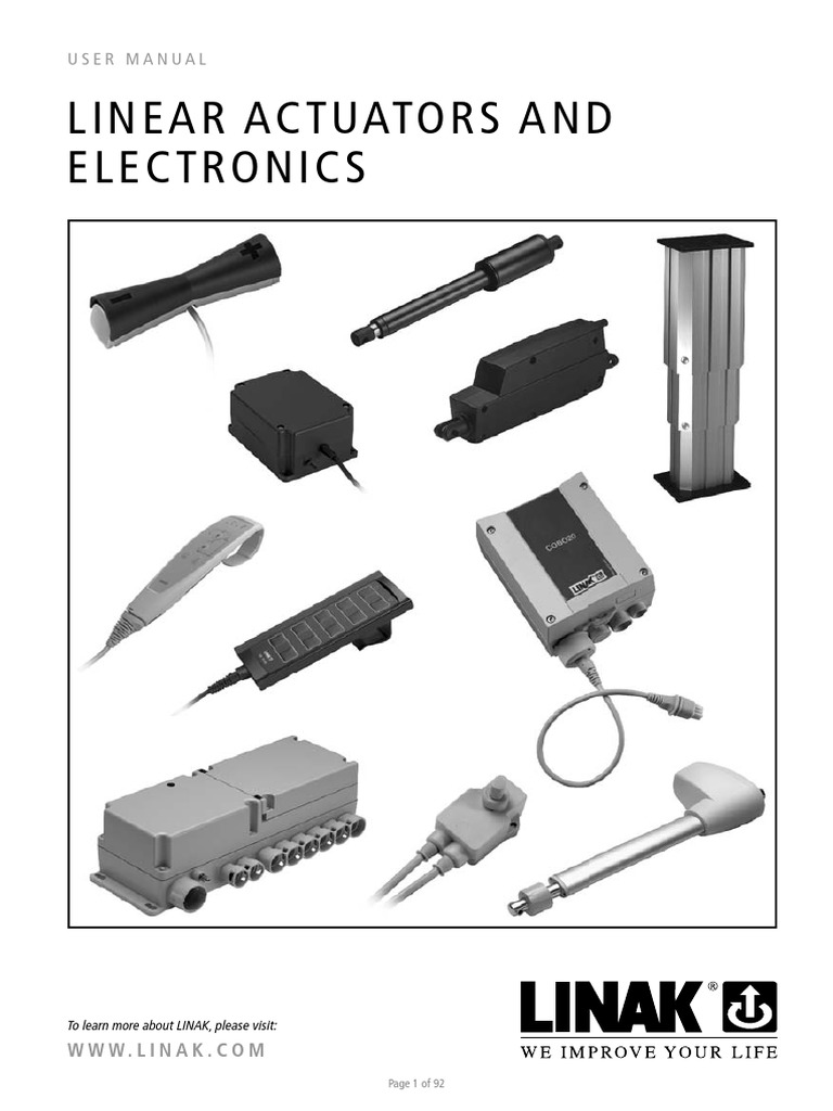 linak linear actuators and electronics user manual eng rh scribd com Eagle Andco Actuator Wiring Diagram Rotork Actuator Wiring Diagram