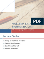 Probability and Statstical Inference 4