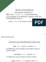 Overheads ECON232 Heteroskedasticity Handout