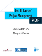 Top 10 Laws of Project Management Li