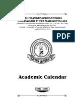 Academic Calendar 2013-17