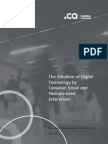The Adoption of Digital Technology by Canadian Small and Medium-sized Enterprises