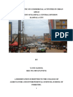 Impacts of Traffic on Commercial Activities in Urban Areas; A case of Kampala City in Uganda; By Planner. YAWEH SAMUEL KABANDA