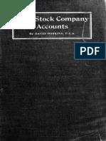 Joint Stock Company Accounts