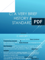 c Programming History and Standards
