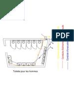 Toilette Evacuation+alimentation-Model