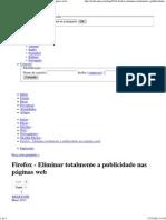 Firefox - Eliminar Totalmente a Publicidade Nas Páginas Web