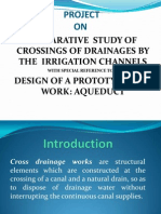 ppt on design of a aqueduct- cross drainage work