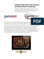 App Casino Mobile, Gamenet launches new Apps developed by Game360