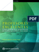 Profesores Excelentes. Cómo mejorar el aprendizaje en América Latina y el Caribe