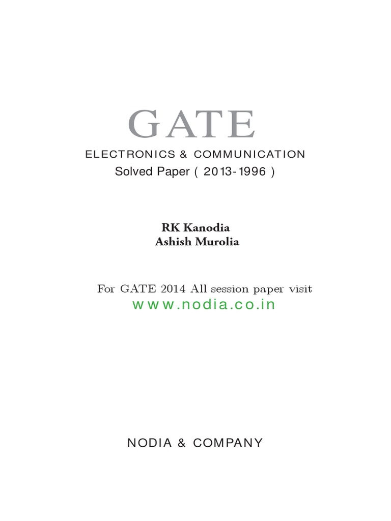 Kanodia Ec Solved Paper Electronic Circuits Mathematical Analysis Next Gtgt From Diagrams To Actual Circuit Connections