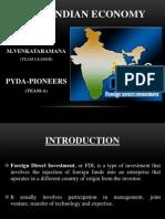 FDI – INDIAN ECONOMY
