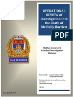 Review of investigation into the death of Holly Bartlett