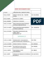 Programa Cientifico Congreso Regional Huancayo 2014