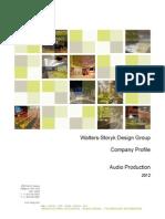 2012 - WSDG - Company Profile - Audio Production