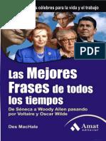 Las Mejores Frases de Todos Los Tiempos 3ed de Séneca a Woody Allen Pasando ..