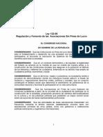 Ley 122-05 Sobre Regulación y Fomento de Las Asociaciones Sin Fines de Lucro