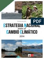 Estrategia Nacional Ante El Cambio Climatico ENCC