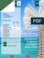 Díptico Actualizaciones en cáncer en investigación básica y clínica