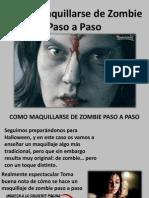 Como Maquillarse de Zombie Paso a Paso