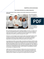 24-07-14 034 BOLETIN - Propone Maloro Acosta soluciones con unidad y disposición
