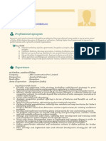 Professional & Beautiful Resume Sample Doc for Experienced and Freshers