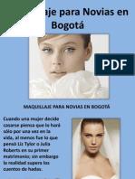 Maquillaje Para Novias en Bogotá