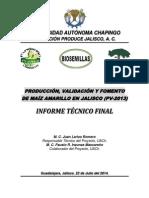 Maíz Amarillo 2013-2014, UACh-FUNPROJAL