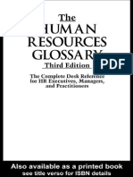PERSONNEL MANAGEMENT the Human Resources Glossary the Complete Desk Reference for HR Executives,