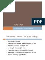 Socratic Seminar PD