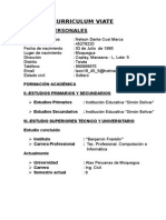 Curriculum Vitae Para Presentar