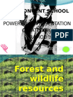 Forest and Wldlife Resouces