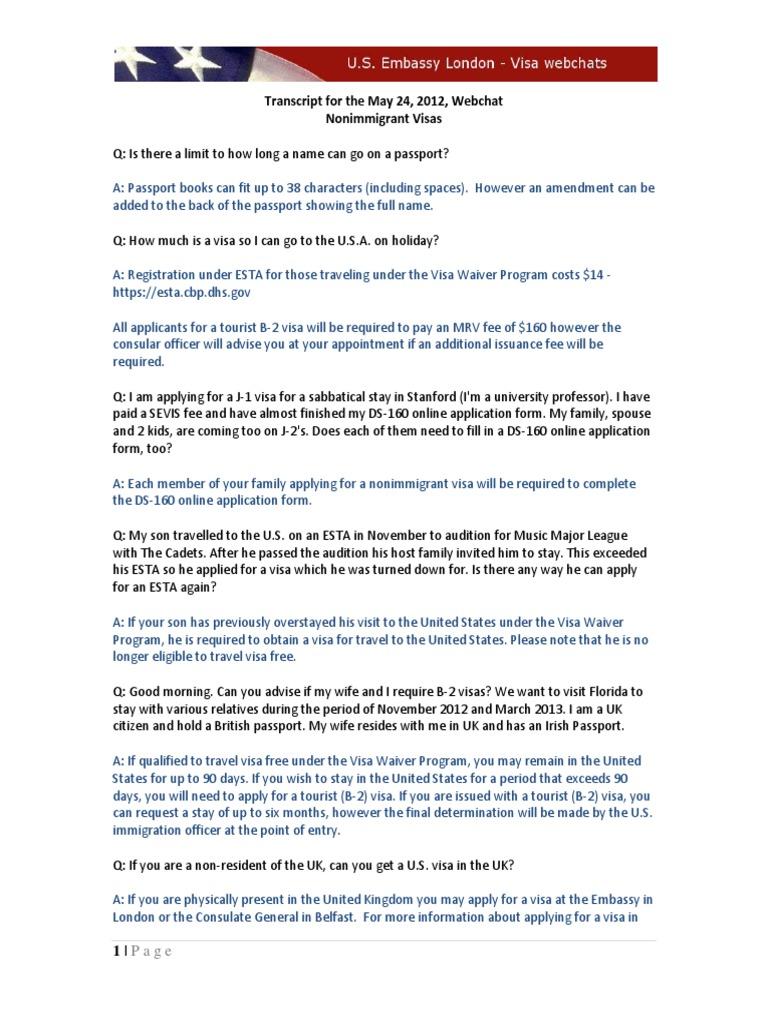 20120524-MayNIVWebchatTranscript   Travel Visa   Passport