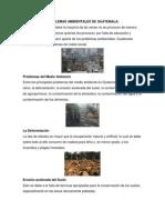 Problemas Ambientales de Guatemala
