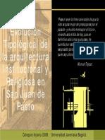 4.3EvolucionTipologicadelaarquitecturainstitucionalyreligiosadePasto
