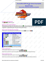 King of Fighters97 Codes