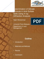 Determination of Silicate Minerals in Acid Sulfate Soils Using X-ray Diffraction Analysis