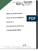 Droit Budgétaire (Mr CHADI) (1)