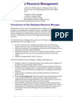 9 Database Resource Management